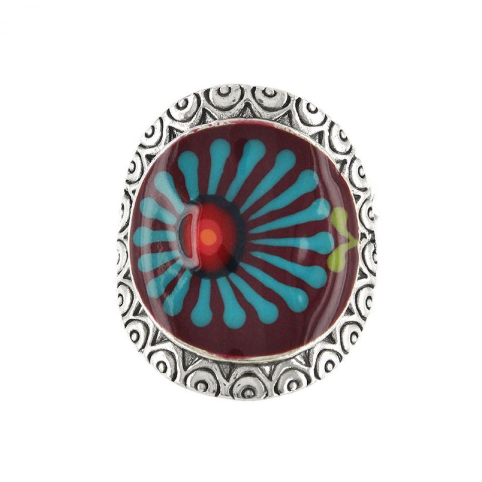 Bague Ruby Argent Rouge Taratata Bijoux Fantaisie en ligne 1