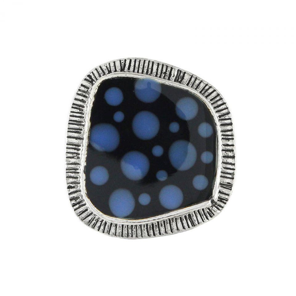 Bague Smocks Argent Bleu Taratata Bijoux Fantaisie en ligne 2