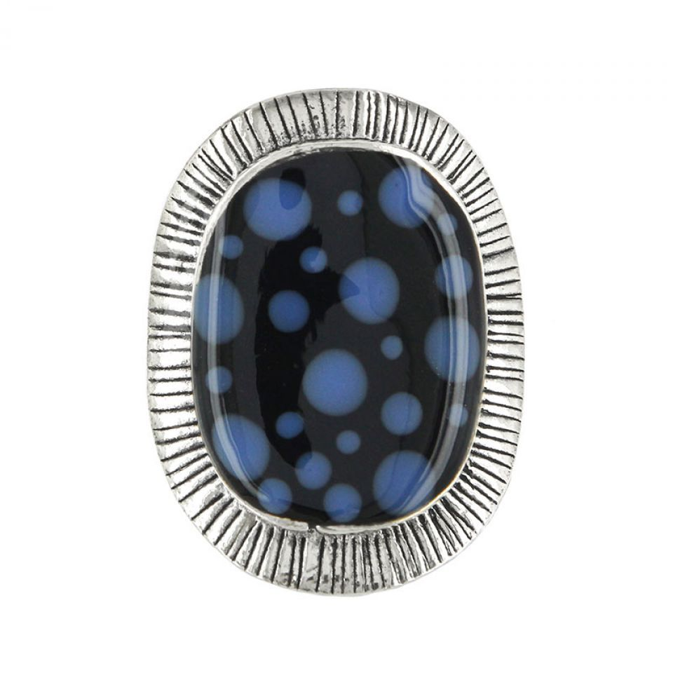 Bague Smocks Argent Bleu Taratata Bijoux Fantaisie en ligne 1