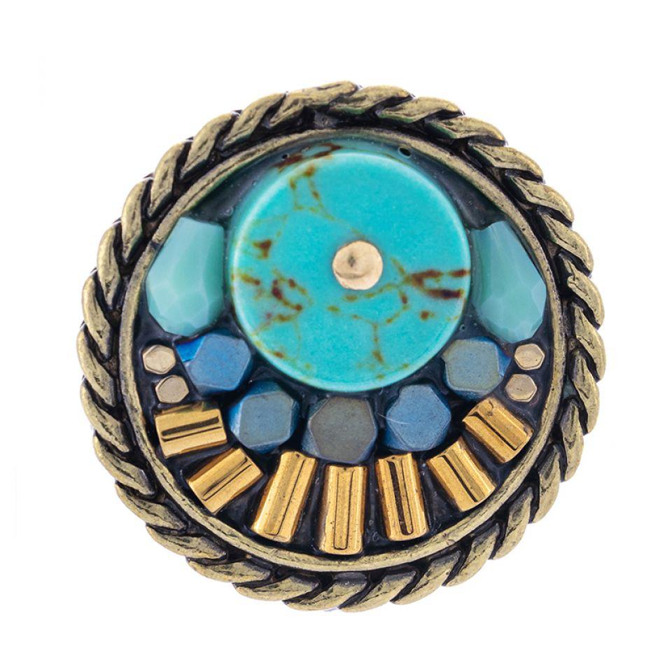 Bague Sombrero Bronze Bleu Taratata Bijoux Fantaisie en ligne 3