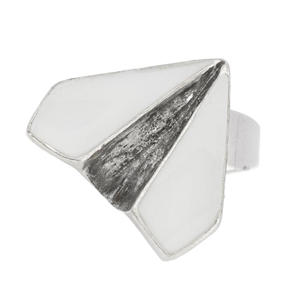 Bague Vive La Recre Argent Blanc Taratata Bijoux Fantaisie en ligne 3
