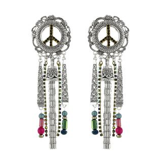 Puces Baba-chic Argent Multi