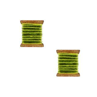 Puces La Boutonniere Argent Vert