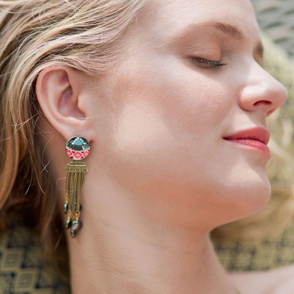 Puces Seduction Bronze Multi Taratata Bijoux Fantaisie en ligne 2