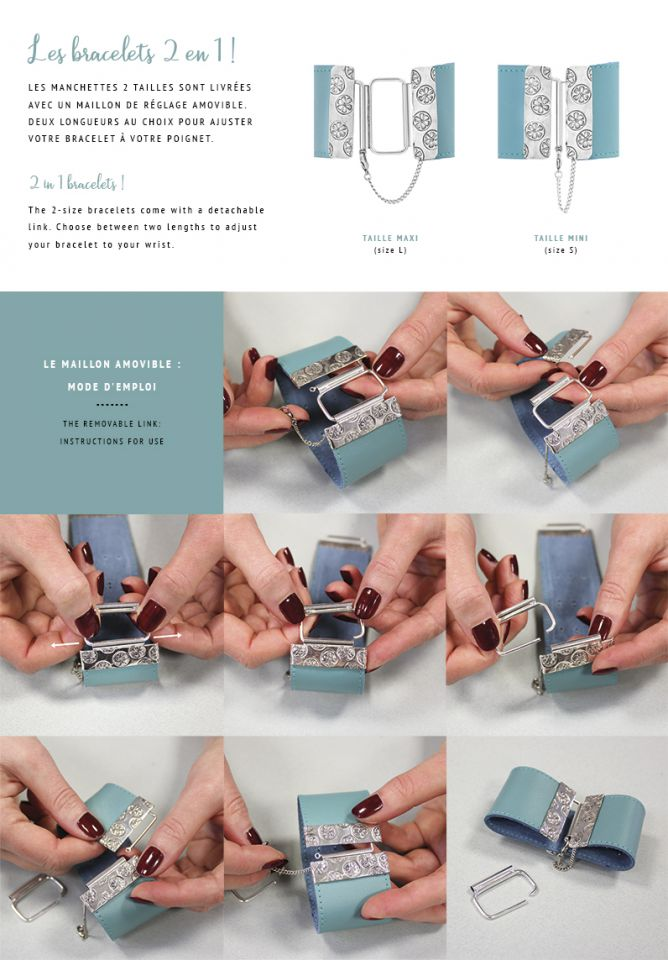 2 in 1 Bracelet : instructions for use